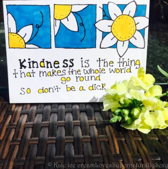 Create a beautiful kindness haiku on a nice, homemade card