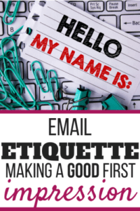 Email etiquette and making a GOOD first impression are so important for your handmade business.