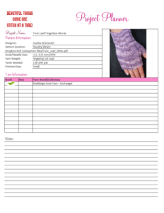 A Project Planner is a great spreadsheet to help you stay organized.