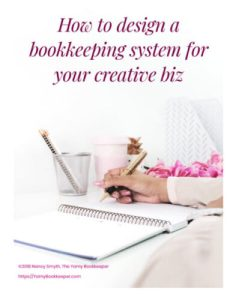 Join the waiting list for this upcoming course - Learn how to design a bookkeeping system for your creative biz