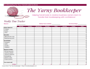 Create a weekly timesheet and keep track of the time you spend every day on every business related task