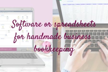 "The ""so-called experts"" in the handmade or creative business world all seem to recommend spreadsheets.  I'm betting that most of them actually use software, even though they tell YOU that spreadsheets are the way to go - so they can SELL you a spreadsheet that they designed but don't use anymore!"