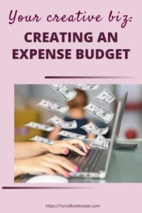 My Handmade/Creative Biz-Creating an Expense Budget. An expense budget helps you to keep track of your monthly fixed costs - the money you need to pay out EVEN if you have NO income.