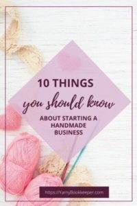 10 Things about starting a handmade business
