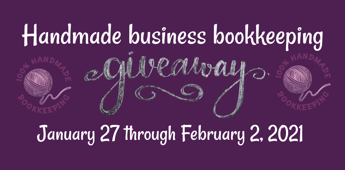 Handmade business bookkeeping giveaway feature image