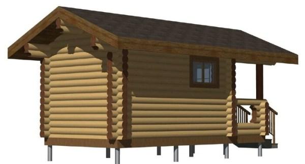 Баня из бревна 11,5 м2 - готовые проекты домов: цены и ...