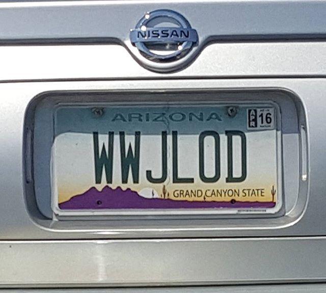 I love Arizona's cheap personalized plates!