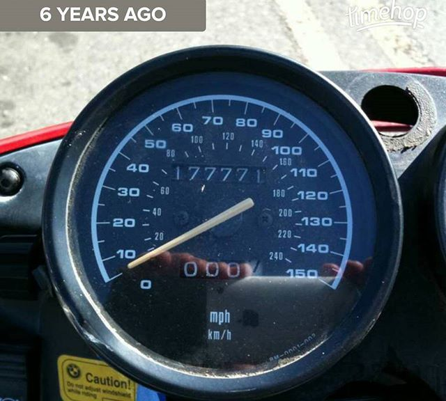 6 years ago, I went on my first motorcycle ride on a bike I owned.  I was not the first owner of the bike, clearly. This 1994 BMW R1100RS had **50,000** more miles than my 1997 BMW M3 had on this day...