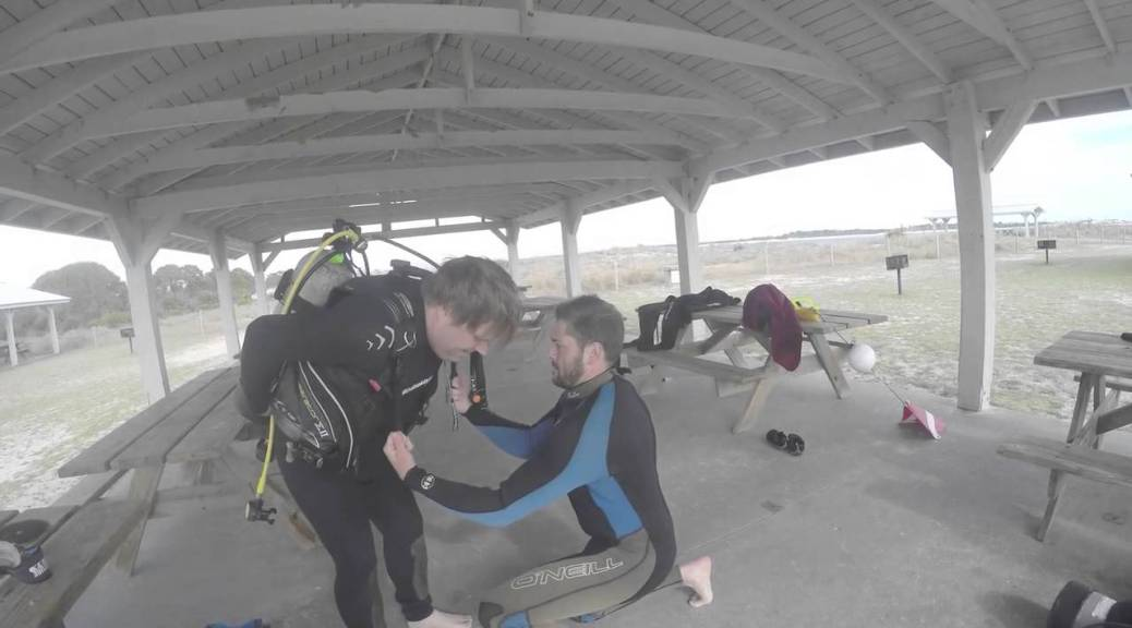 Taking Scuba Lessons at St. Andrews State Park, Panama City Beach, FL