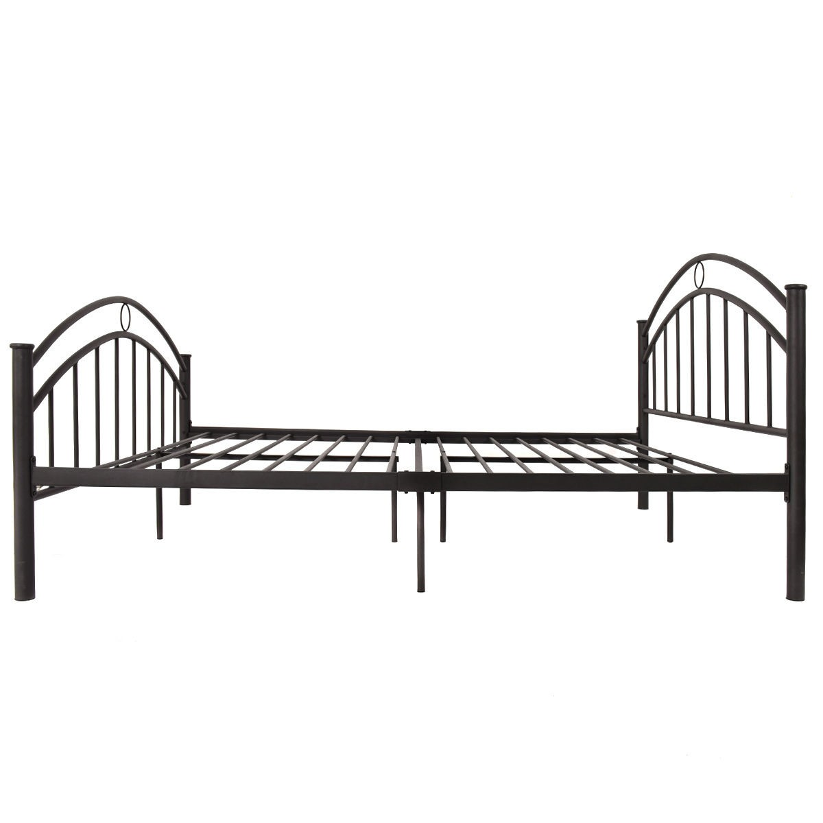 Us Queen Size Metal Bed Frame Mattress Platform Headboard