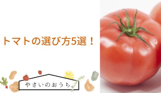 トマトの選び方のポイント5選!美味しい見分け方のコツは簡単!