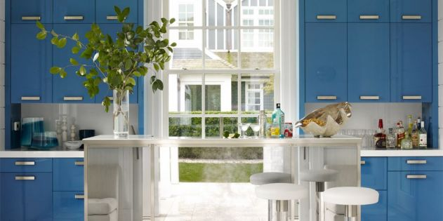 Mavi Mutfak Modelleri