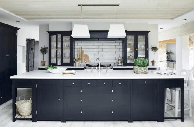 Siyah Beyaz Mutfak Tasarımları için Fikirler