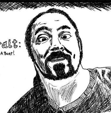 yasha harari drawing in black and white