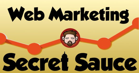 secret sauce for online marketing, illustration