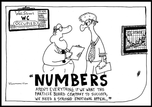 sales numbers personal appeal business cartoon