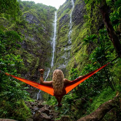 as waterfalls flow downward, so too should gravity drive your visitors through to where they want to go to achieve the optimal level of engagement with your ocean of products / services