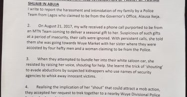 PRNigeria Petition Police