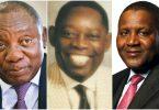 Cyril Ramaphosa, MKO Abiola, Aliko Dangote