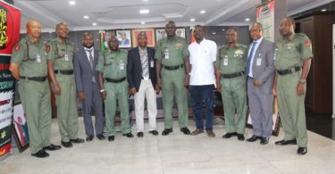 General Buratai, Yushau Shuaib with Management of the Centre for Crisis Comunication (CCC) in 2016