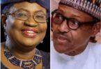 Dr Ngozi Okonjo-Iweala and President Muhammadu Buhari