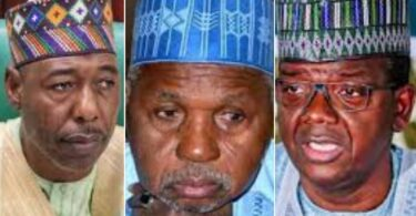 Gov Zulum of Borno, Masari of Katsina and Matawalle of Zamfara