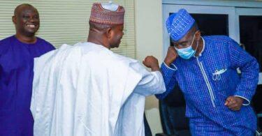 Governor Yahaya Bello of Kogi State with Yushau Shuaib
