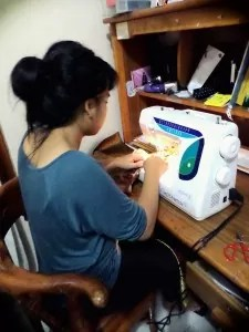 Sewing is something you do to calm you, to relax you