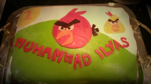 Angry Bird-tårta