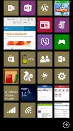 Skärmbilder på HTC 8x