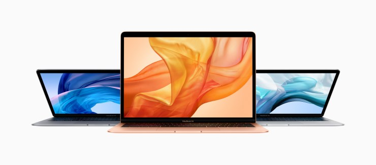 New MacBook Air (Late 2018) in Space Gray, Silver, and Rose Gold