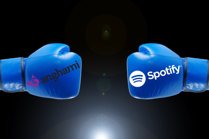 Music streaming boxing match in the Middle East between Anghami and Spotify