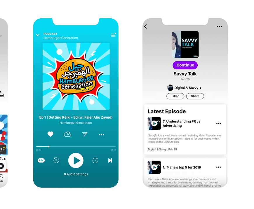 Podcasts in Anghami