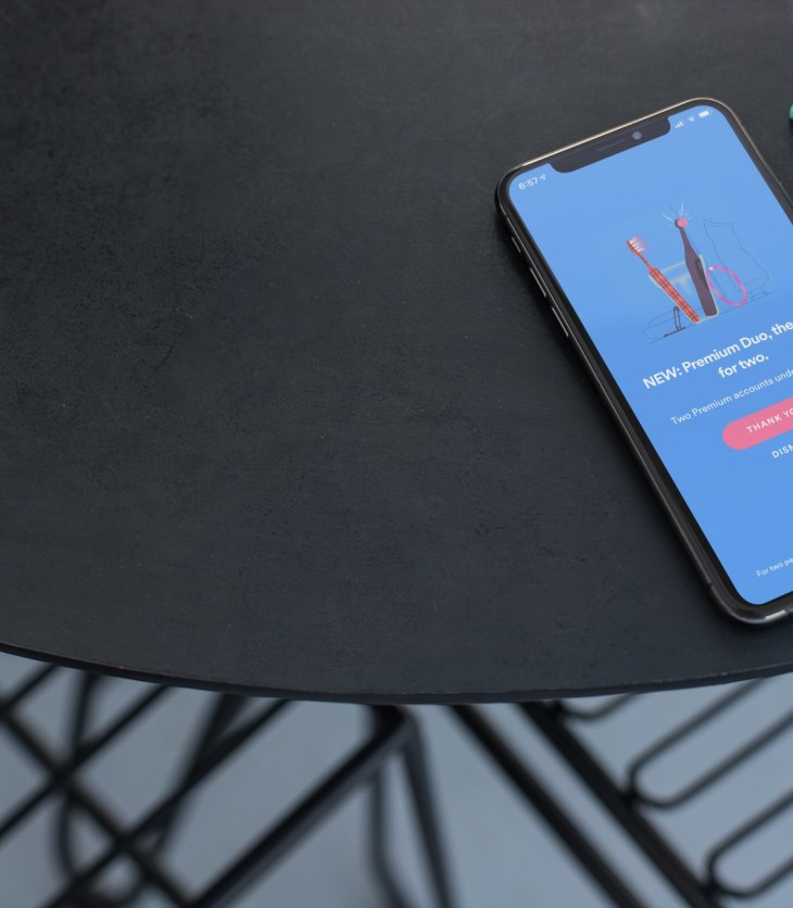 Spotify Premium Duo on iPhone XS
