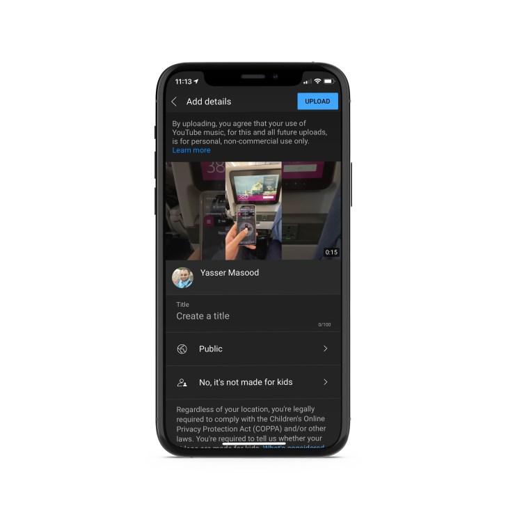 Publishing to YouTube Shorts is similar to uploading a video
