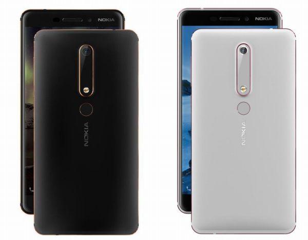 Nokia 6 (2018)のボディカラー