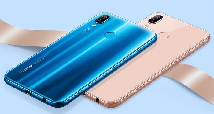 Huawei nova 3eの背面