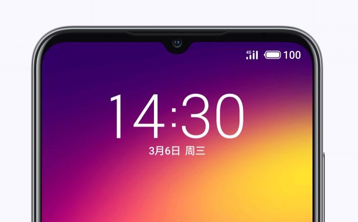 「Meizu Note 9」の水滴型ノッチ