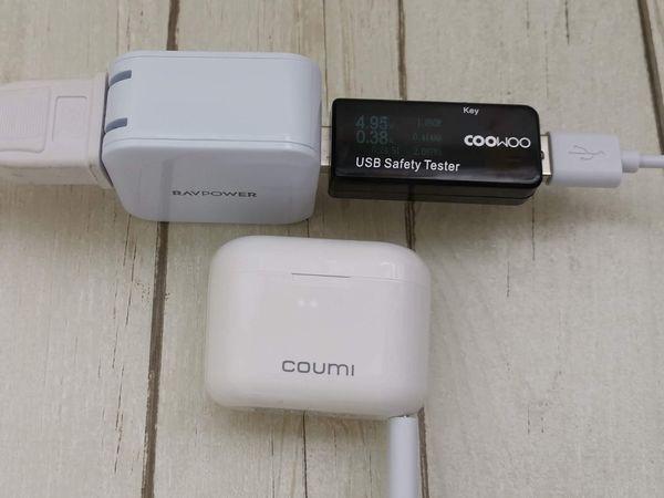 格安USB充電器「RP-UC11」を使って充電