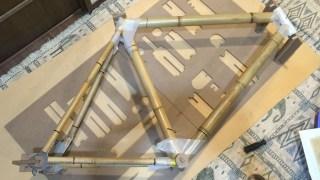 竹製自転車フレーム組み立てキットBamboobeeを仮組みして、ジオメトリーを測ってみたよ