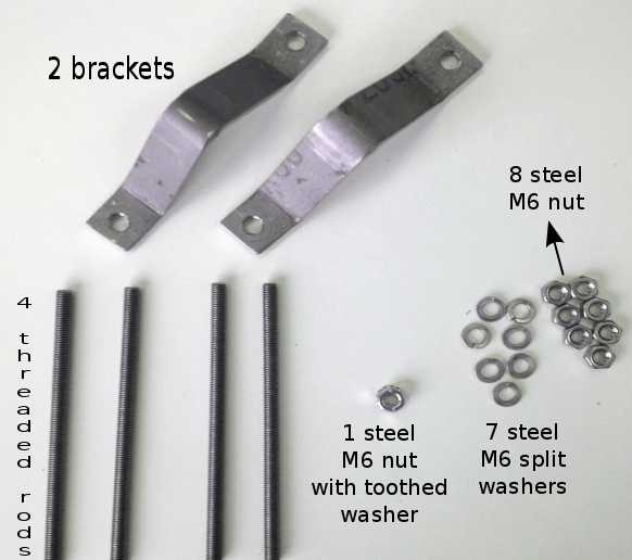 basic parts you need for attaching the SatSite unit to a tower or mast.
