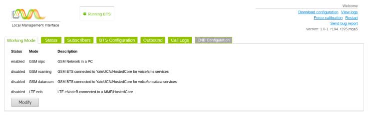 Working mode GSM nipc enable