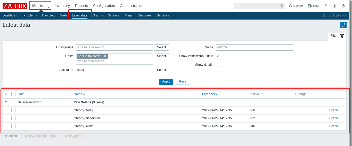 SatSite Monitoring with Zabbix 5