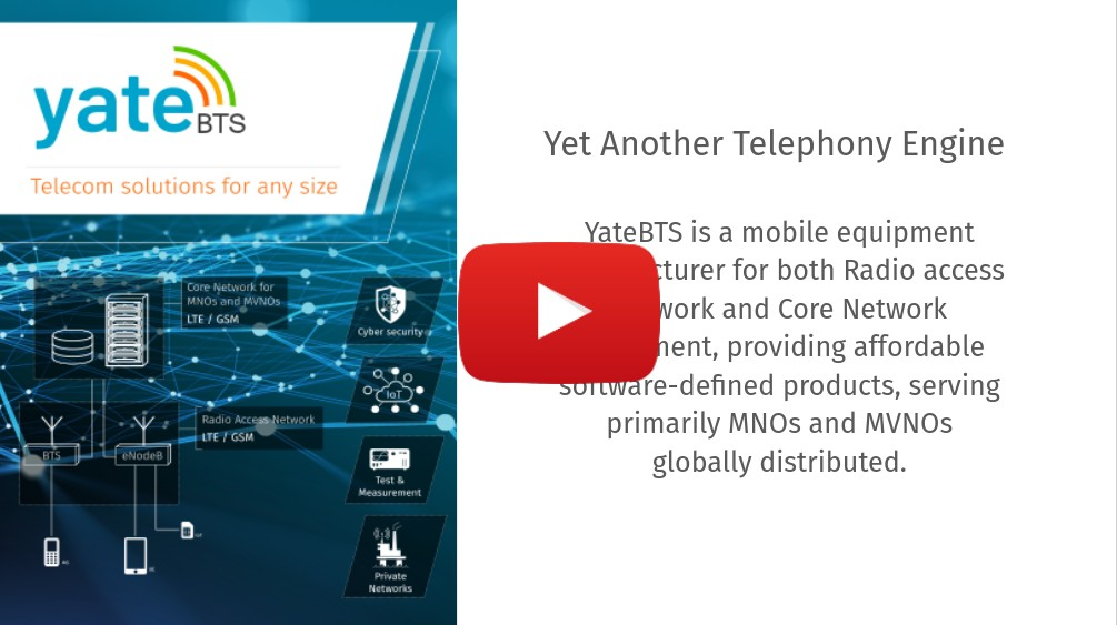 Webinar - Yate Technology - Telecom Technology 1