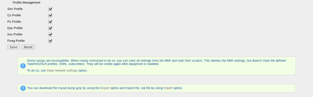 YateMMI User Levels 10