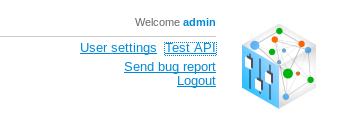 'Test API' button location