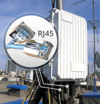 image proving IP backhaul connection for GSM/LTE SatSite base station