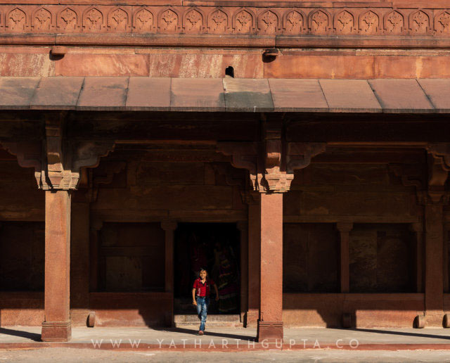 Little boy in the shadow, Sikri Fort, Fatehpur