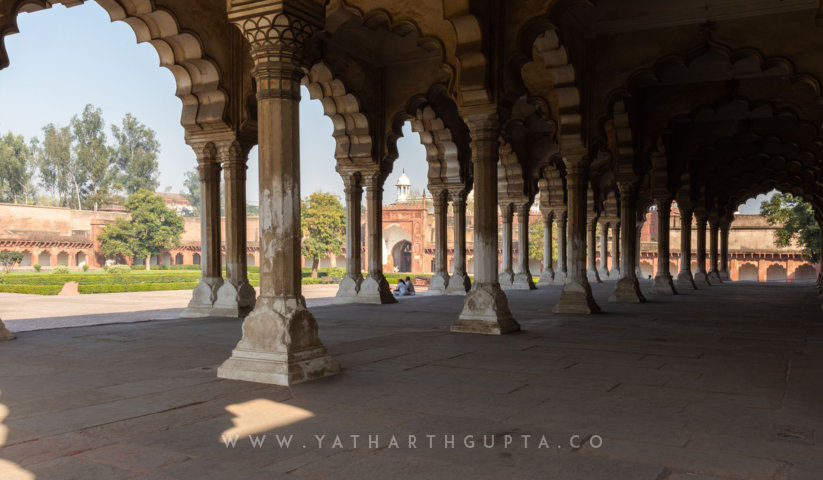 Diwan-e-Aam Compound in Red Fort, Agra, India