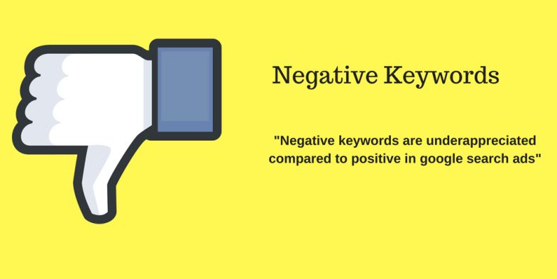 Google search ads - negative keywords
